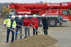 Spatenstich Fa. SCHOLPP Kran & Transport GmbH (Foto: Fa. SCHOLPP)