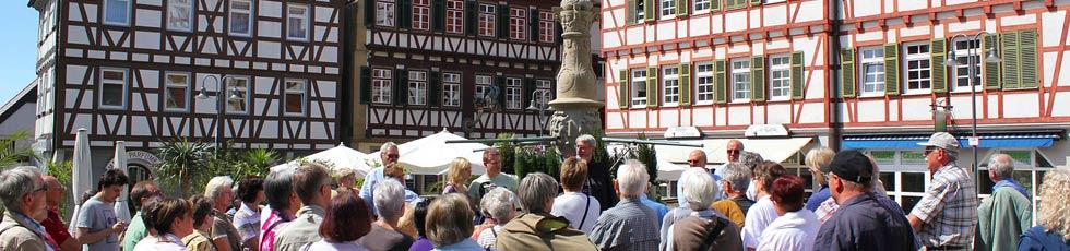 Stadtf�hrung durch Leonbergs historische Altstadt