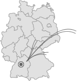 Lage von Leonberg
