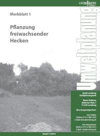 Merkblatt 1 - Pflanzung freiwachsender Hecken