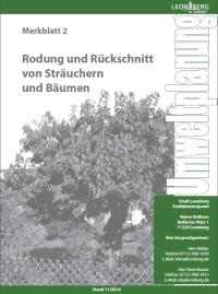 Merkblatt 2 - Rodung und Rückschnitt von Sträuchern und Bäumen