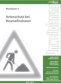 Merkblatt 3 - Artenschutz bei Baumaßnahmen
