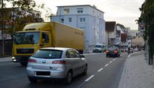 Schutzstreifen in der Grabenstraße - zur Großansicht klicken
