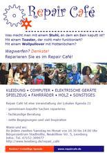 Bürger aktiv - Repair-Café Poster