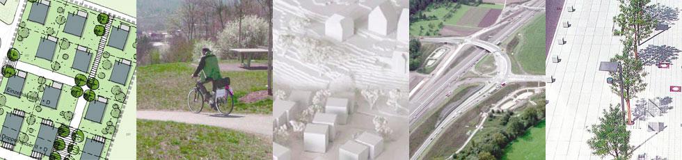 Planen und Bauen (Fotos: 1. v.l. Prof. Dr. Ing. Gerd Baldauf, 3. v.l. Behnisch Architekten, 4. v.l. Frank Albrecht)