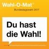 Bild vergrößern: Bundestagswahl 2017 - Button für den Wahl-O-Mat