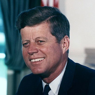 John F. Kennedy, (Cecil Stoughton, White House)