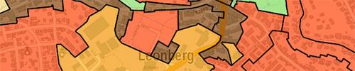 LeoMaps: Bodenrichtwerte - Bereich Leonberg
