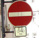 Einbahnstraßen für Radfahrer frei