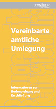 Planen + Bauen Broschüre Umlegung Titelblatt