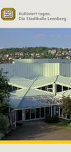 Faltblatt 'Kultiviert tagen. Die Stadthalle Leonberg